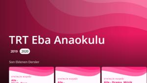 TRT EBA Anaokulu başladı