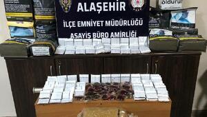 Alaşehirde kaçak tütün operasyonu