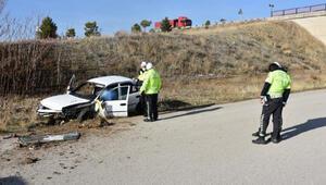 Kırıkkalede, şarampole devrilen otomobilin sürücüsü öldü
