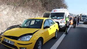 TEM'de 3 araç çarpıştı: 1 yaralı