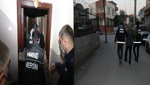 Mersin merkezli 4 ilde uyuşturucu operasyonu: 20 gözaltı