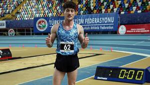 Milli atlet İlkay Aydemir, heptatlonda 23 yaş altı salon Türkiye rekorunu geliştirdi