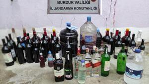 Burdurda kaçak içki operasyonu