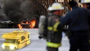 ABDdeki patlamada detaylar ortaya çıkıyor... İnsan kalıntıları olabilir
