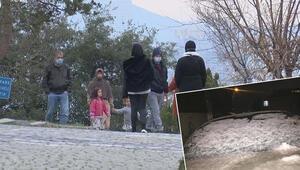 Geçen yıl mevsimin ilk karı yağmıştı İstanbulda aynı yerde şimdi hava 15 derece
