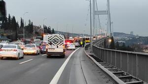15 Temmuz Şehitler Köprüsünde kaza Trafik durma noktasına geldi