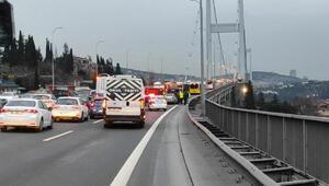 15 Temmuz Şehitler Köprüsünde meydana gelen kaza, trafiği durma noktasına getirdi