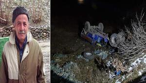 Orduda tarım aracı şarampole yuvarlandı: 1 ölü