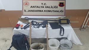 Antalyada kaçak kazıya suçüstü