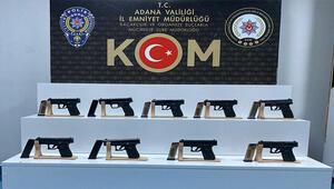 Adanada 9 ruhsatsız tabanca ele geçirildi