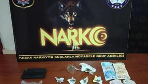 Keşanda uyuşturucu operasyonu: 2 gözaltı