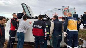 Lüleburgazda iki otomobil çarpıştı: 4 yaralı