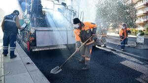 Mamak yollarına 1 yılda  92 ton asfalt serildi