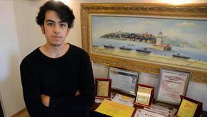 Lise öğrencisi Barkan Canbolattan gururlandıran başarı