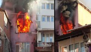 Feci yangın Ev kullanılmaz hâle geldi, 2 kardeşi itfaiye kurtardı