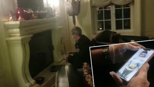 Kara para aklama soruşturmasında yeni görüntü Evinde şöminede bulundu