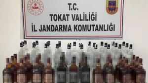 Tokatta, 102 litre kaçak içki ele geçirildi
