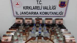 Kırklareli ve Edirne'de 505 litre sahte içki ele geçirildi