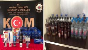 Gaziantepte sahte içki operasyonu: 11 gözaltı