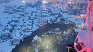 Norveçte meydana gelen toprak kayması yüzlerce kişiyi etkiledi...