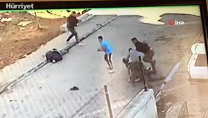 Kastamonuda iki aile arasındaki dehşet  anları güvenlik kamerasında