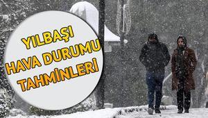 Kar yağışı kenti beyaza bürüdü İstanbula kar ne zaman yağacak MGM 31 Aralık yılbaşı hava durumu tahminleri