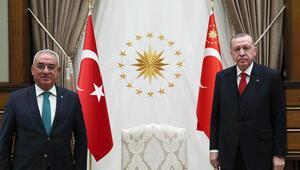 Cumhurbaşkanı Recep Tayyip Erdoğan, DSP Genel Başkanı Önder Aksakalı kabul etti