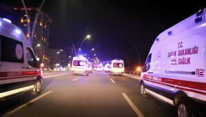 Şanlıurfaya siren çalarak giren 38 ambulans şoförüne soruşturma