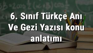 6. Sınıf Türkçe Anı Ve Gezi Yazısı konu anlatımı