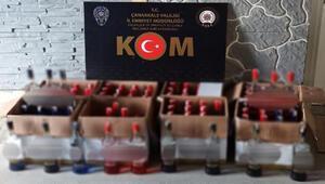 Çanakkalede 91 şişe kaçak votka ele geçirildi
