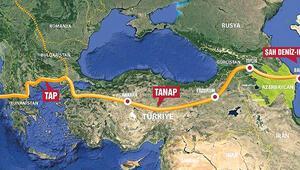 TANAP üzerinden Avrupa'ya ilk gaz