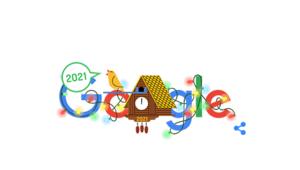 Yeni yılın ilk günü için Googledan Doodle Google 2021 yılbaşını Doodle ile kutladı