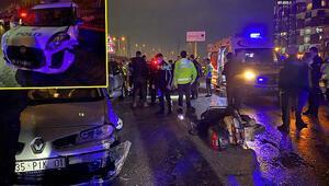 Hem yasakları deldi hem de polisin yaralanmasına neden oldu