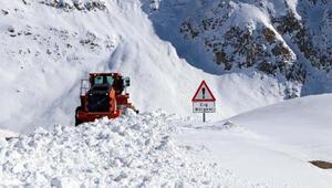 Bahçesarayda 2 metre karda ekiplerin yoğun meaisi