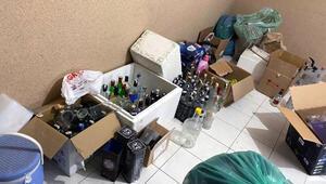 Adana'da sahte içki operasyonu Hepsi ele geçirildi