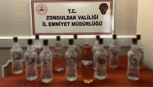 Zonguldak'ta sahte içki ele geçirildi