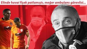 Son Dakika | Galatasarayda Omar Elabdellaouinin elinde havai fişek patladı Sızan görüntüye sert tepki geldi...