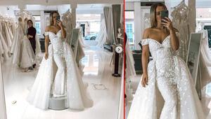 Düğünü iptal edilmişti, hiç giyemediği gelinliğini böyle gösterdi