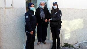 Yaşlı kadına polis eli