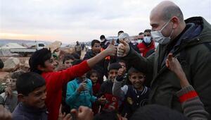 Bakan Soylu İdlibde Yüzbinlerce insana hayat eli uzatılıyor