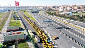 Yenikapı'ya taksici akını