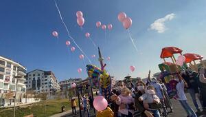 Mutluluk balonları Öykü için uçuruldu