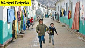 Hürriyet Suriyede... Savaş çocuklarının dileği barış