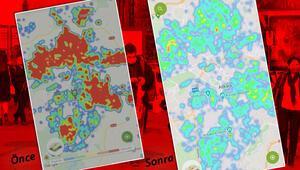 Ankarada koronavirüs risk haritasında büyük değişim