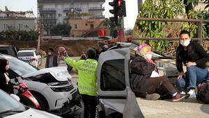 Antalyada zincirleme kaza