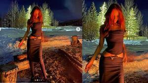 Bella Hadid yılın ilk tatiline çıktı: Kar üzerinde gece pozu
