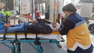 Yaya geçidinde otomobilin çarptığı Suriyeli Yusuf Neccar yaralandı
