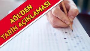 AÖL sınavları ne zaman yapılacak Ertelenen Açık Öğretim Lisesi sınav tarihi için MEBin açıklaması bekleniyor