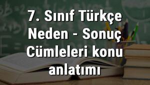7. Sınıf Türkçe Neden - Sonuç (Sebep - Sonuç) Cümleleri konu anlatımı