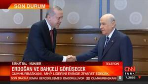 Cumhurbaşkanı Erdoğandan MHP lideri Bahçeliye nezaket ziyareti